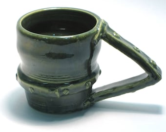 Steampunk mug, hardware, cup, coffee, tea, nuts, bolts, metal