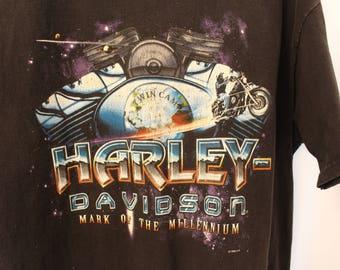 Vintage 1999 Harley Davidson Space Bike Tee - XL