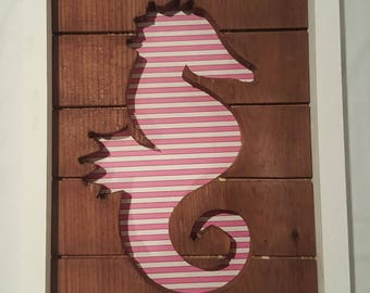 Framed Sea Horse Cutout