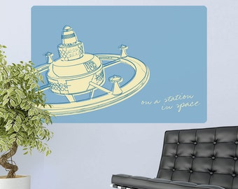 Station In Space Lunastrella Wall Decal - #64314