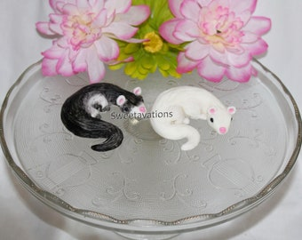 Fondant Ferret Cake Topper - Fondant Animals - Ferret Topper - Animal Cake - Ferret Cake - Ferrets - Girl Birthday - Boy Birthday - Birthday