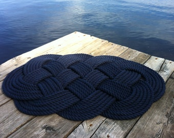 Nautical Bathmat - Pure Cotton Nautical Mat and Rug - Nautical Decor - Nautical Bathroom