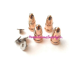 4 ROSE GOLD Bullet Studs. Spikes Sets. Includes MatchingScrew Back Components. Metal. Punk Rock. Rivets. Clothing Accessory Studs. DIY.