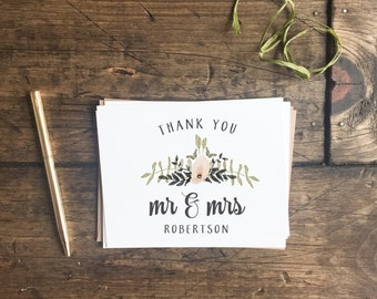 Wedding Thank You Cards. Customized Thank You Cards. Wedding Stationery. Floral Wedding Thank You's. Custom Wedding Cards.