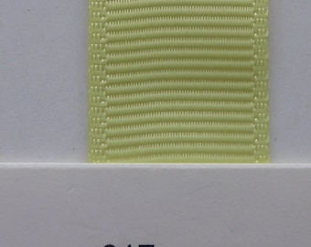 "3/8"" / 10mm Solid Grosgrain Ribbon BABY MAIZE #617 X 2 METERS"