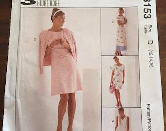 McCall's 8153 Flared Dress Pattern, Size D, Size 12 - 14, UNCUT