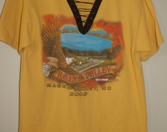 Harley Davidson Rally in the Valley Lace Up Tee