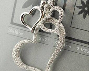 Three Heart Pendent Necklace