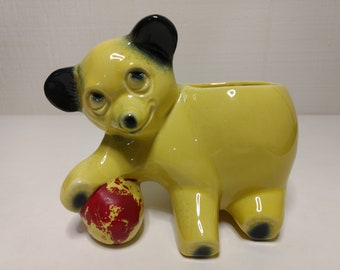 Yellow bear with Red Ball McCoy Planter
