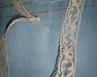Vintage silk lace wholesale or by the yard SILK lace french origin 1940 to 1950