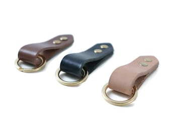 Simple Leather Key Fobs
