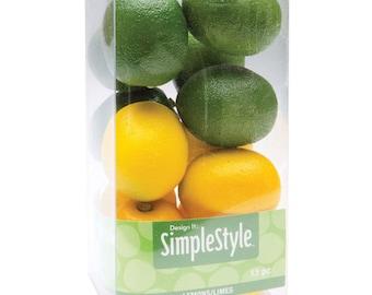 """Design It Simple Decorative Fruit 13/Pkg ~ Mini Lemons and Limes ~ 1-3/4"""" x 1-1/2"""" RS9802"""