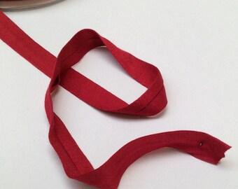 Jersey bias tape Red