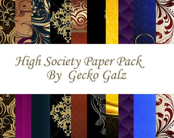 High Society Digital Paper Pack