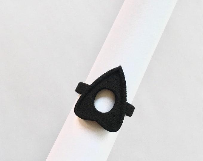Geometric Black Diamond Ring