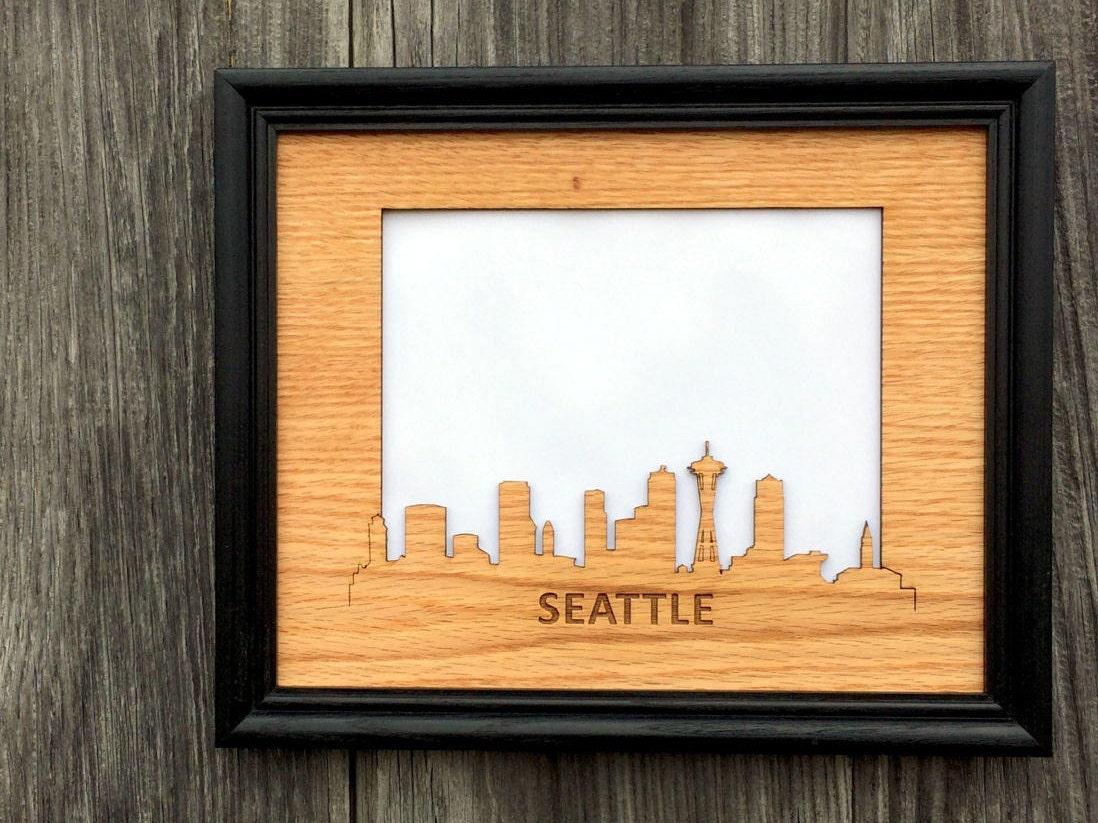 8 x 10 Seattle Bilderrahmen Seattle Skyline Decor Geschenk