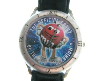 M&M - M M wrist watch - M M collectible - Red  M M candy -  M M advertising - Art and collectibles -   # 55