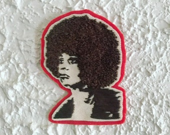 Angela Davis Embroidered Patch