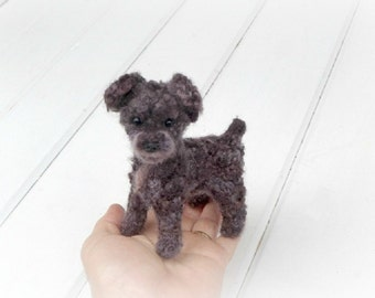 Custom Pet Portrait / Your DOG in Miniature / Cute / Handmade Poseable Art Sculpture Personalized gift / example Schnoodle