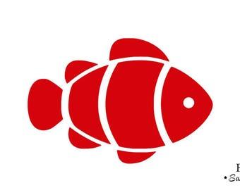 clown fish red flex fusible