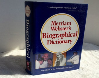 Vintage Hardcover Book Merriam Webster's Biographical Dictionary 1995