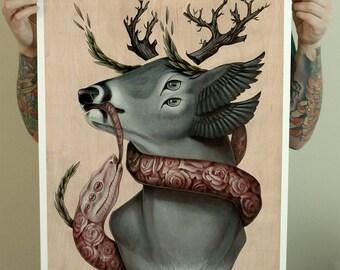 """18x24"""" Caduceus Giclee Fine Art Print"""