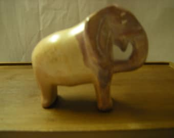 Vintage Elephant Figurine Carved Onyx Collection Shelf Decor Statuette Of  Elephant