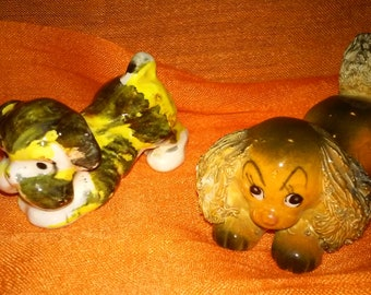 Petite Vintage Ceramic Dogs