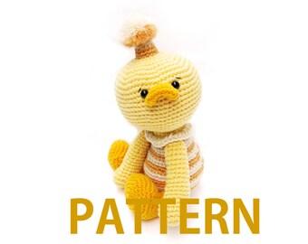 Amigurumi Crochet Pattern-duckling