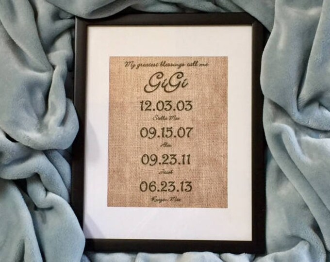 Custom gift Mom mother grandmother family special dates birthday Valentines Mommy grandchildren Grandma Mimi Gigi Granny BeachHouseDreams