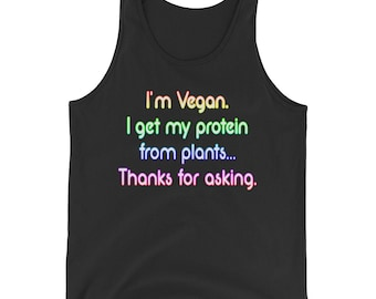 I'm Vegan I Get My Protein From Plants Thanks For Asking Unisex Tank Top