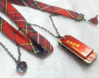Scottish red Liberty Harmonica necklace