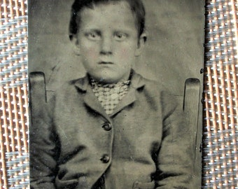 Tintype - A Solitary Little Boy