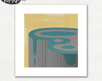 PLATEAU (v1), Modern Mid Century Abstract, Giclee Fine Art Print for the Home Decor