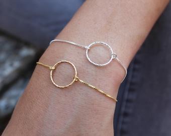 Circle Bracelet, Infinity Bracelet, Dainty Bracelet, Bracelets For Women, Ring Bracelet, Friendship Bracelet, Silver Bracelet, Tiny Bracelet