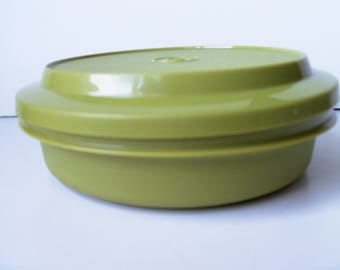 Vintage Tupperware plastic storage box , great shape (#EV146)