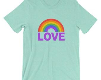 Rainbow Love Shirt Tank Top - Gay Pride Muscle Tee - Tank Top, T-Shirt, Gay Pride Shirt, LGBT Shirt, Rainbow Shirt, Gym Tank, Muscle tank T,