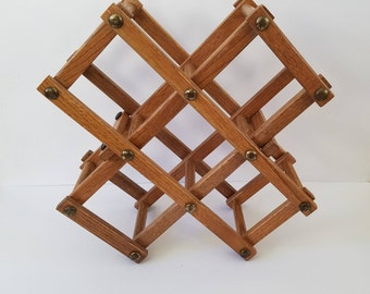 Vintage Collapsible Wine Rack