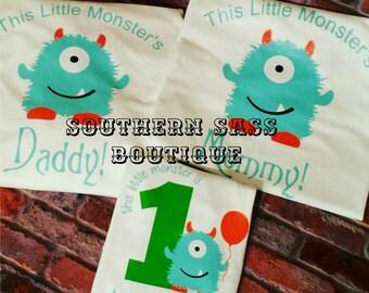 Monster Birthday Shirt Set