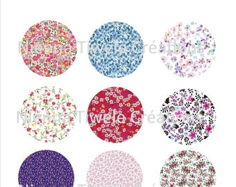 48 digital Images for cabochons, 25,20,18, 18x25 Liberty