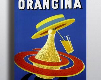 Orangina by Bernard Villemot - Vintage Advertising Poster Print