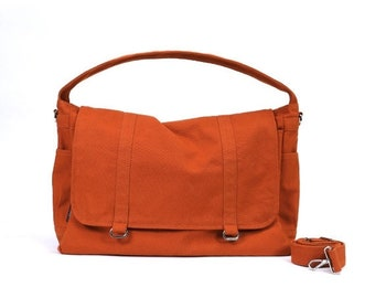 Mother s Day Big Sale ASHTON // Burnt Orange / Lined with Beige / 066 // Ship in 3 days // Messenger Bag / Diaper bag / Shoulder bag / Tote