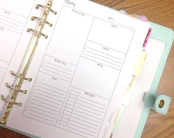 """Digital A5 (large) Organizational """"Today"""" Inserts"""