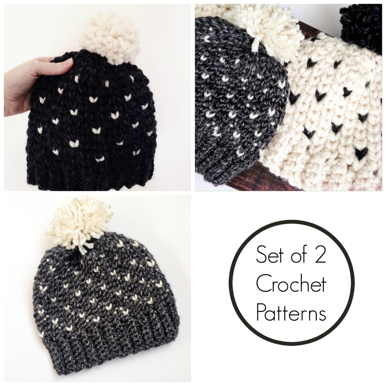 Easy crochet pattern crochet pattern bundle crochet hat tutorial this is a digital file baditri Images