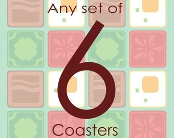 Set of Six Coasters (6)