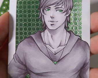Limited Print Aceo / ATC  Green Version 1-2
