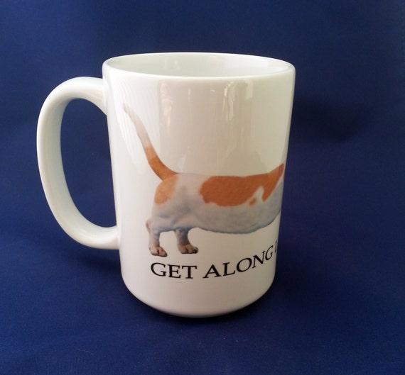 Basset Hound Get Along Little Doggie Large 15 oz Coffee Mug