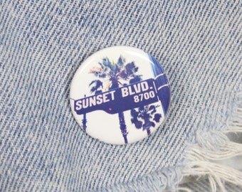 Sunset Boulevard 1.25 Inch Pin Back Button Badge