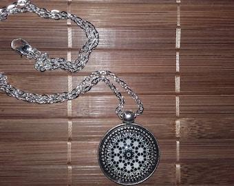 Rose mandala pendant necklace!