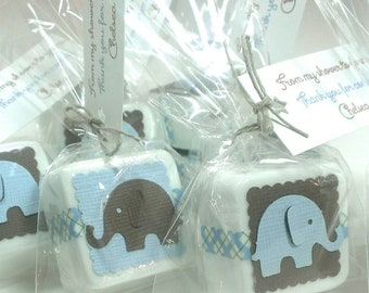 elephant baby shower favors, handmade soaps - boy or girl favors - choose your own colors